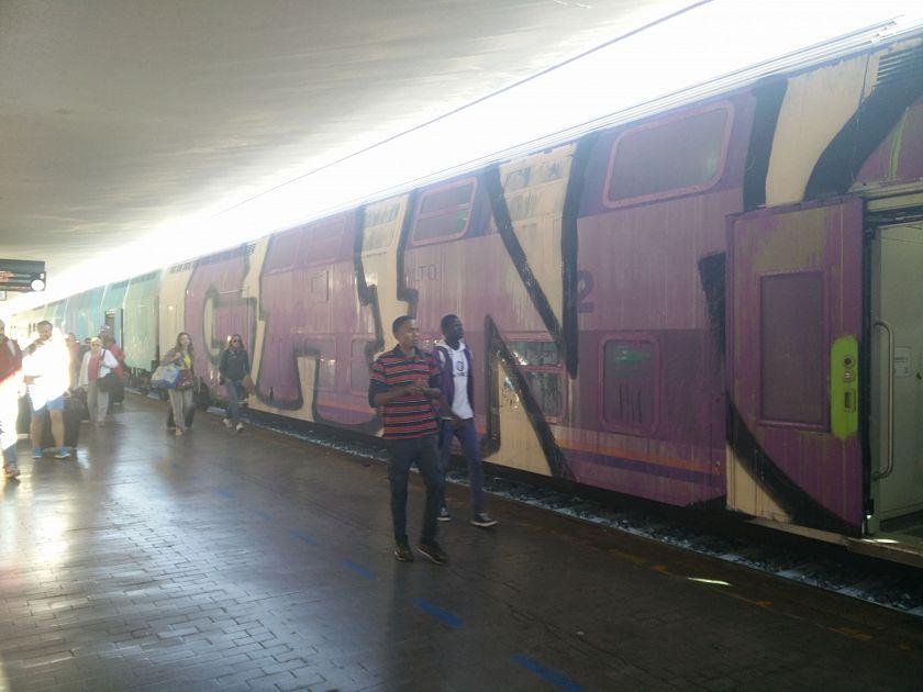 Il Treno Dei Pendolari Completamente Dipinto Cronaca Firenze