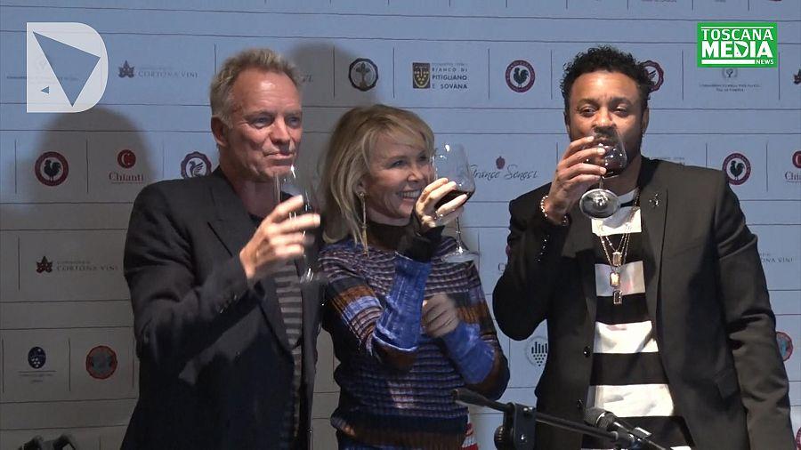 Sting e Shaggy, da Sanremo alla Fortezza per il vino toscano