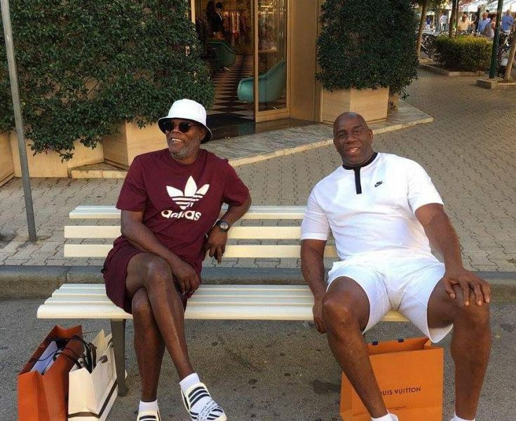 Magic Johnson e Samuel L Jackson al Forte