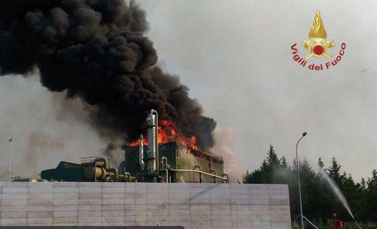 Incendio a Pomarance 3 agosto 2017