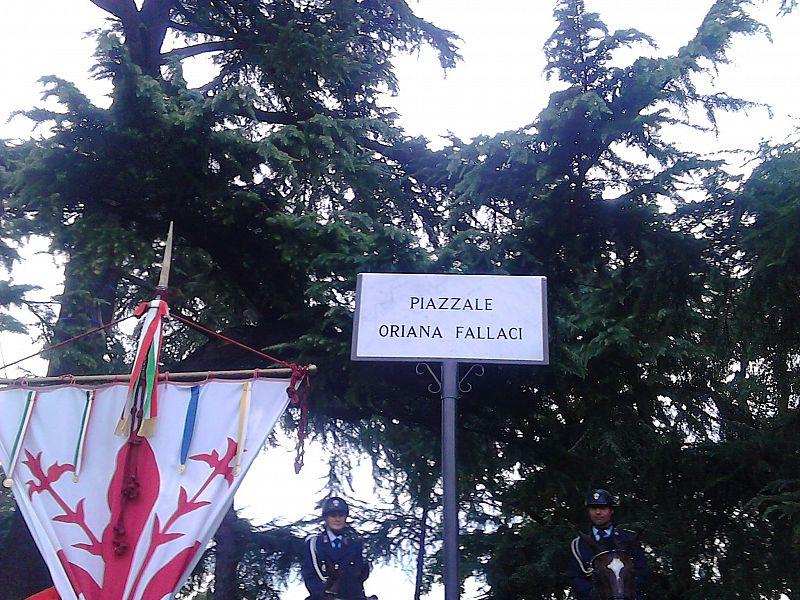 Piazzale Oriana Fallaci, nel giorno dell'anniversario della sua morte l'intitolazione