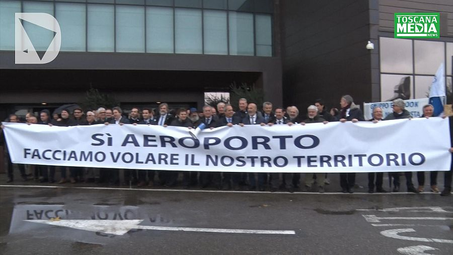 Manifestazione degli imprenditori per l'aeroporto di Firenze