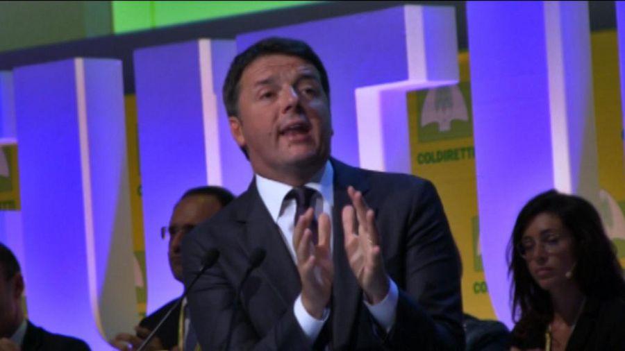 Matteo Renzi all'evento Coldiretti