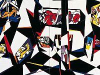 """"""" Museo espressionista"""" , acrilico su legno, cm.180 x 180, 1985"""