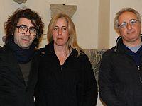 Da sinistra: il produttore discografico Andreino Salvadori, Ginevra Di Marco e Francesco Magnelli