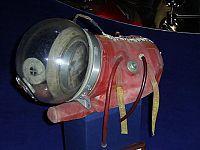 La capsula che ospitava Laika al Memorial Museum of Cosmonautics di Mosca