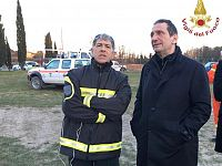 Il prefetto e il comandante dei vigili del fuoco di Pisa