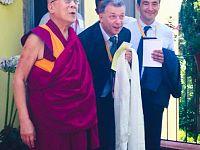 Scianna con il Dalai Lama nel 2014