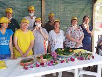 Esposizione dei prodotti dell'orto
