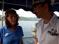 Carmen Di Penta e il comandante Stefano Costantino