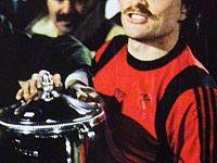 Berggreen con la Mitropa Cup nel 1985