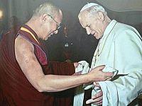 Settembre 1982 - Roma: Il Dalai Lama con Papa Wojtyla