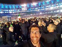 Matteo Stefanini alla cerimonia d'apertura dei giochi