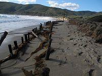Dune sulla spiaggia di Lacona, dopo la mareggiata di fine Ottobre