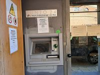 Il bancomat non è più in funzione