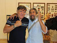 Beppe Carletti, leader de I Nomadi, con il nostro blogger Fausto Pirìto