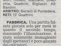 Fabbrica Terricciola 2003, il ritaglio di giornale