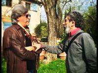 Lo scrittore con il nostro blogger Fausto Pirìto