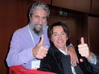 """Il nostro Fausto Pirìto con Fortis nel dicembre 2014 a Roma,  durante il """"XIV World Summit"""" dei Premi Nobel per la Pace.  La loro grande amicizia risale ai primi Anni Ottanta."""