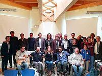 foto di gruppo a Massarosa con il sindaco Mungai