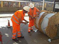 Apertura del cantiere per la fibra ottica all'Elba