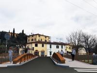 Un rendering del nuovo ponte del Molino a Calenzano