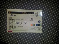 Il biglietto dell'ultima partita giocata dalla Juve al Delle Alpi nel 2006