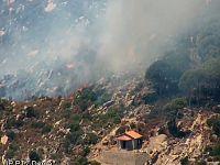Le immagini dell'incendio diffuse dalla Protezione civile
