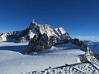 Punta Helbronner sul Monte Bianco dove terminerà la staffetta