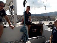 Simone Perotti, Francesca Piro e Maurizio Burlando a bordo di Mediterranea