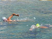 La nuotata effettuata per le vittime di Lampedusa