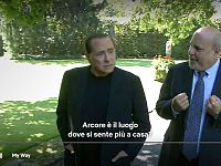 Berlusconi con Alan Friedman