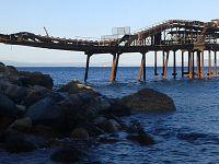 Pontile di Vigneria, prima della mareggiata del 28 Ottobre 2018