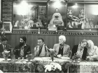 Milano, 1995: conferenza stampa al Centro buddhista Ghe Pel Ling col Ven. Thamthog Rinpoche e Gerry Mullingan