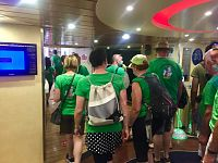 Turisti sulla nave