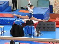 Una delle giovani atlete durante una gara