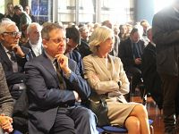 Il sindaco Marco Filippeschi con la ministra Stefania Giannini