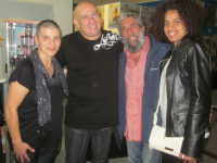 Da sinistra: Teresa Ventura, Custódio Castelo, Fausto Pirìto e Daimarelis Ferrer Hardy - foto: G. Lo Bartolo