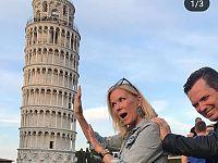 La Brooke di Beutiful a Pisa ( foto instagram )