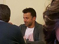 Del Piero a tavola da Benito (foto di Irina Cosferent da fb)