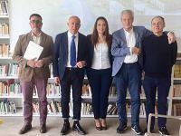 Silvano Crecchi (Presidente Belvedere SpA) Renzo Macelloni (Sindaco di Peccioli) Alessia Scappini ( Amministratore Albe SpA) Paolo Regini (Presidente Alia SpA) Pietro Giorgieri (architetto progettista)