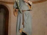 Statua di Santa Lucia nella omonima chiesa de La Pila