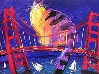 """Il quadro del """"gatto sul ponte"""" che ha ispirato  il nome della band di Pontedera"""