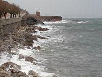 Il mare mosso visto da Rio Marina