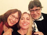 Ginevra con lo scrittore cileno Luis Sepúlveda e sua moglie, la poetessa Carmen Yáñez