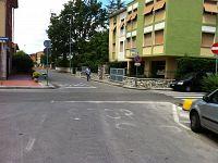 Incrocio tra via Toti e via Diaz