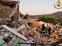 La palazzina esplosa e crollata a Portoferraio