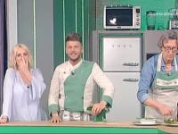 Tiziano Fabiani (a destra) con lo chef Diego Bongiovanni e Antonella Clerici
