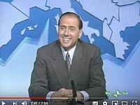 Berlusconi durante un'intervista con Biagi