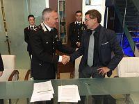 il Presidente del Parco Giampiero Sammuri e il Comandante dei Carabinieri per la Tutela della Biodiversità e dei Parchi Generale Davide De Laurentis